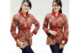 Baju Batik Kantor Wanita Berjilbab